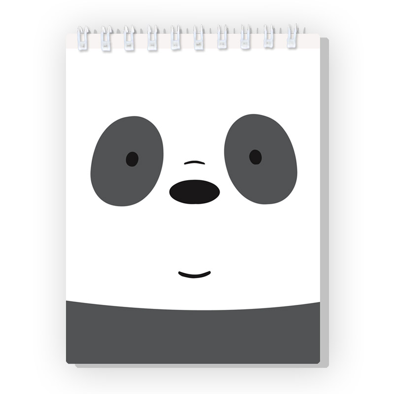 Spiral notebook We Bare Bears Panda