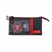Triple Pencil Case HS SPIDERMAN Dark