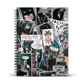 DIN A4 Grid Paper Notebook JOKER Comic