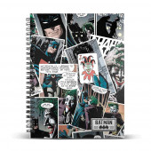 DIN A5 Grid Paper Notebook JOKER Comic