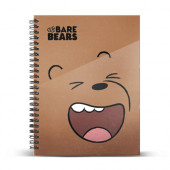 DIN A5 Grid Paper Notebook We Bare Bears Grizzly