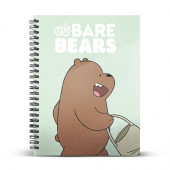 DIN A4 Grid Paper Notebook We Bare Bears Grizzly