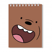 Spiral notebook We Bare Bears Grizzly