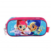 Estuche Portatodo Doble 3D SHIMMER AND SHINE Dancing