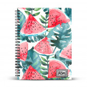 DIN A4 Grid Paper Notebook  Watermelon