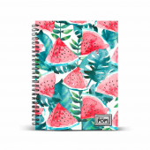 DIN A5 Grid Paper Notebook  Watermelon